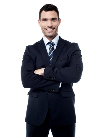folded arms: Successful businessman with folded arms