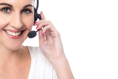 customer care: Cropped image of customer support executive