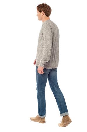 full length: Full length image of casual man in motion