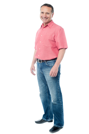 mature male: Full length image of casual senior man posing