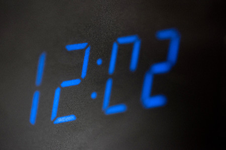 show time: Close up image of LED digital clock show time