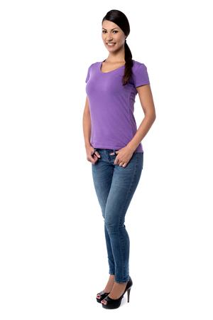 full length: Full length image of beautiful woman standing