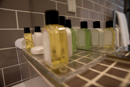 screened: Body care products, closeup shot.
