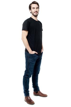 bonhomme blanc: Beau jeune homme, plein coup de longueur.