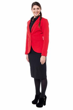 full length: Full length shot of pretty business woman