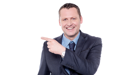 dedo          ndice: Negocios que señala su dedo índice en espacio de la copia