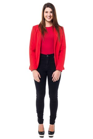 full length: Full length shot of a young business lady Stock Photo