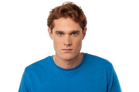 aggressiveness: Guy expressing aggressiveness with eyes
