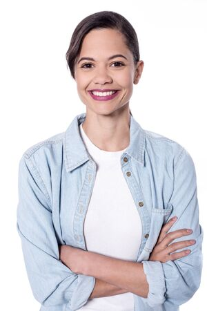 Picture of a smiling girl with crossed arms