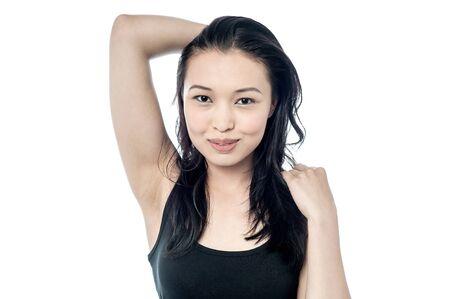 sensuous: Young pretty girl giving a sensuous look Stock Photo