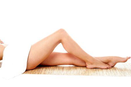 Shot of lady's long legs photo