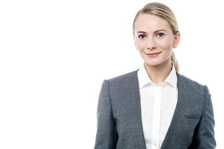 confidently: Business executive posing confidently to camera Stock Photo