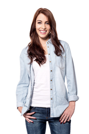 casuals: Beautiful woman in casuals clothes Stock Photo