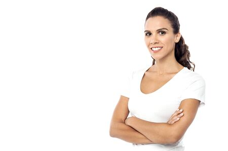 casuals: Confident young woman in casuals Stock Photo