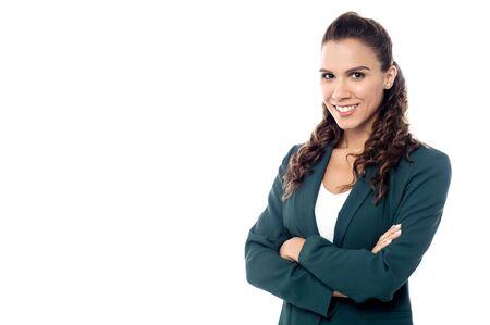 copyspace corporate: Beautiful young lady in business attire Stock Photo