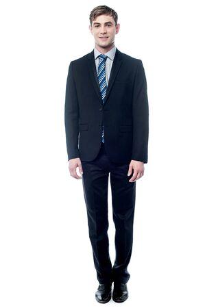 full length portrait: Full length portrait of young employee