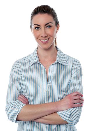 Half length shot of female employee