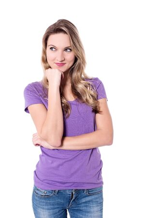 casuals: Young charming woman in casuals Stock Photo