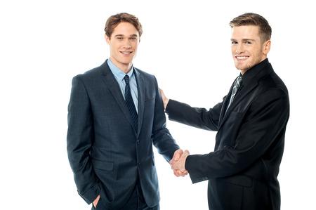 appreciating: Businessman appreciating his partner