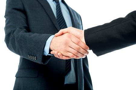 personas saludandose: La gente de negocios que se saludan