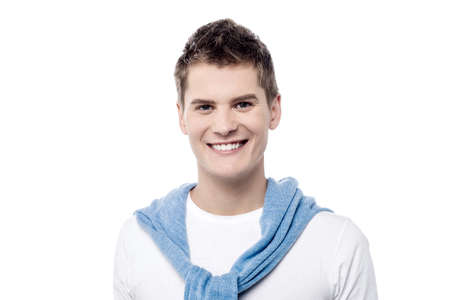 casuals: Happy young guy in trendy casuals Stock Photo