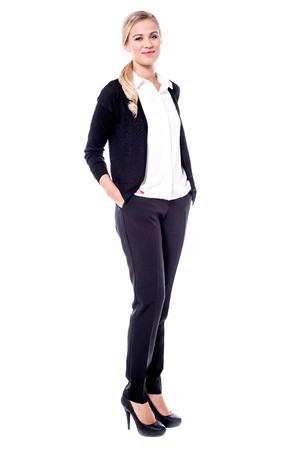 formal attire: Classy female model in formal attire