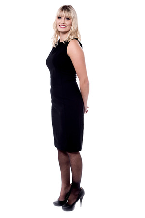 attractive charismatic: Full length portrait of a charming lady Stock Photo