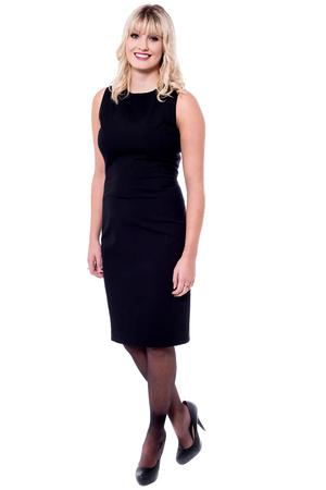 party wear: Trendy female model in party wear dress
