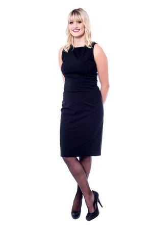 full length: Full length studio shot of gorgeous lady Stock Photo