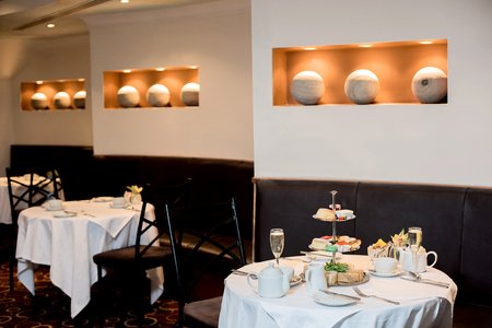 ambience: Ambience of a dining area in restaurant Stock Photo