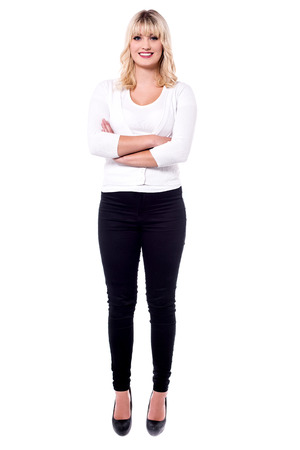 Full length image of attractive young woman. Stock Photo