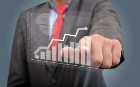 business chart: Professional Checking Success Graph Stock Photo