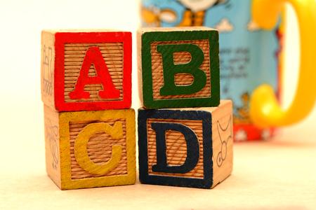 ABCD Word Blocks - School Education concept Stock Photo