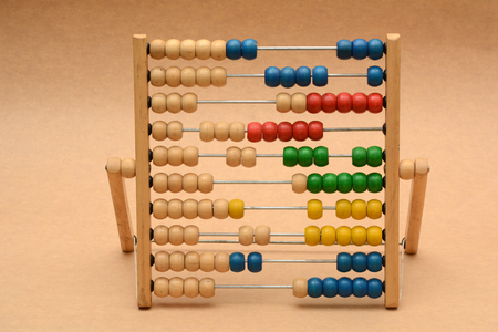 Traditional Vintage style Abacus On Wood Background
