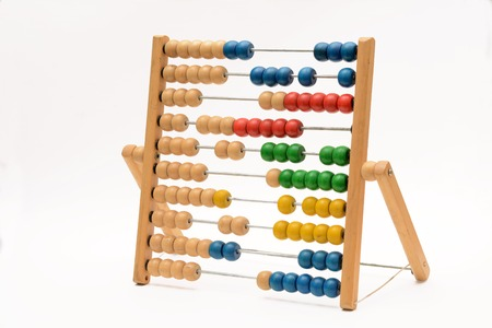 Vintage Counting Abacus on White background Reklamní fotografie