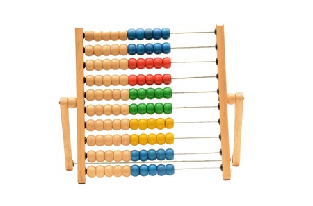 Traditional Vintage style Abacus On white background