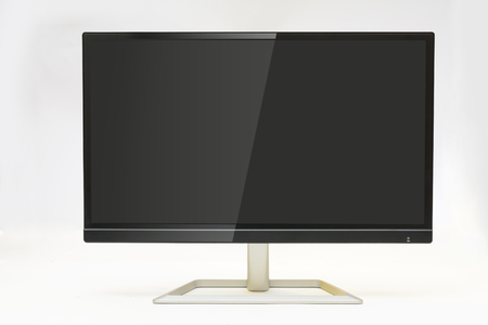 Modern Monitor with reflection on screen white background
