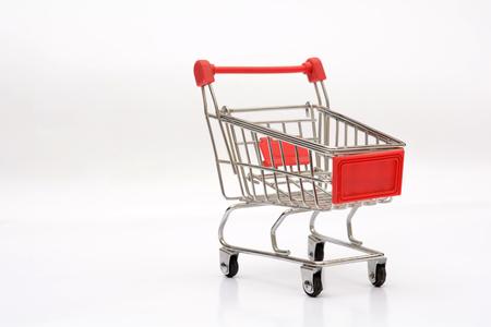 Empty Shopping Cart isolated on white background Stock Photo