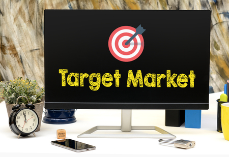 Target Market Icon on office tabel display monitor