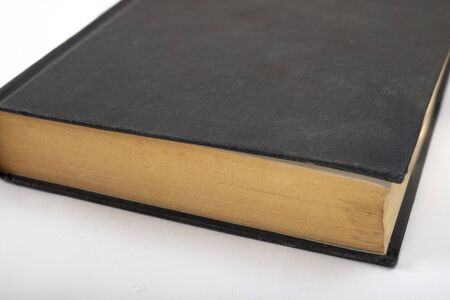 Old black Book top view stock photo , book Mock up concept