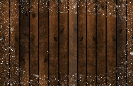 Wooden snow board stock photo, vintage texture background top view