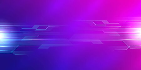 Dark pink blue technology background illustration with copy space for your text