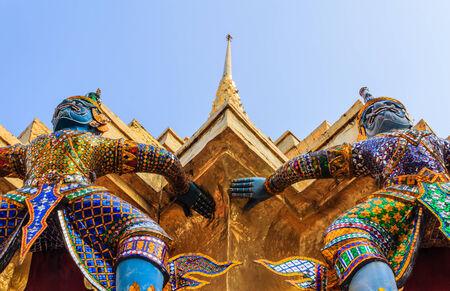 pra: Giant at Wat pra kaew, Landmarks ,Bangkok,Thailand Stock Photo