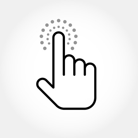 Hand-cursor, clicking a link - touching finger