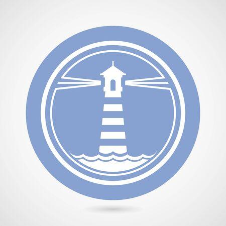 maritime: Maritime lighthouse simple icon Illustration