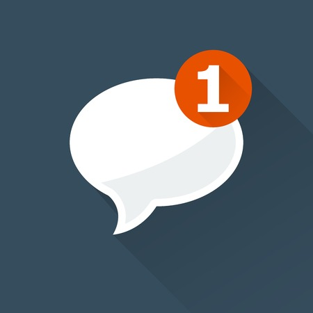 Incoming message (notification) icon - oval speech bubble, Illustration