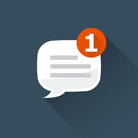 Incoming message (notification) icon - rounded square speech bubble
