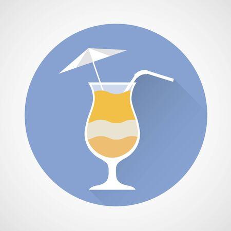 Pina Colada cocktail simple icon Vektorové ilustrace