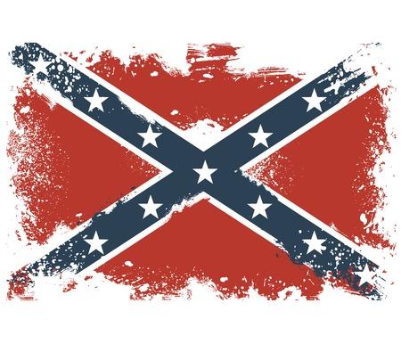 threadbare: Bandiere logore degli Stati Confederati d'America Vettoriali