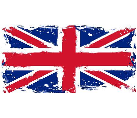 threadbare: La bandiera della Gran Bretagna Threadbare Vettoriali